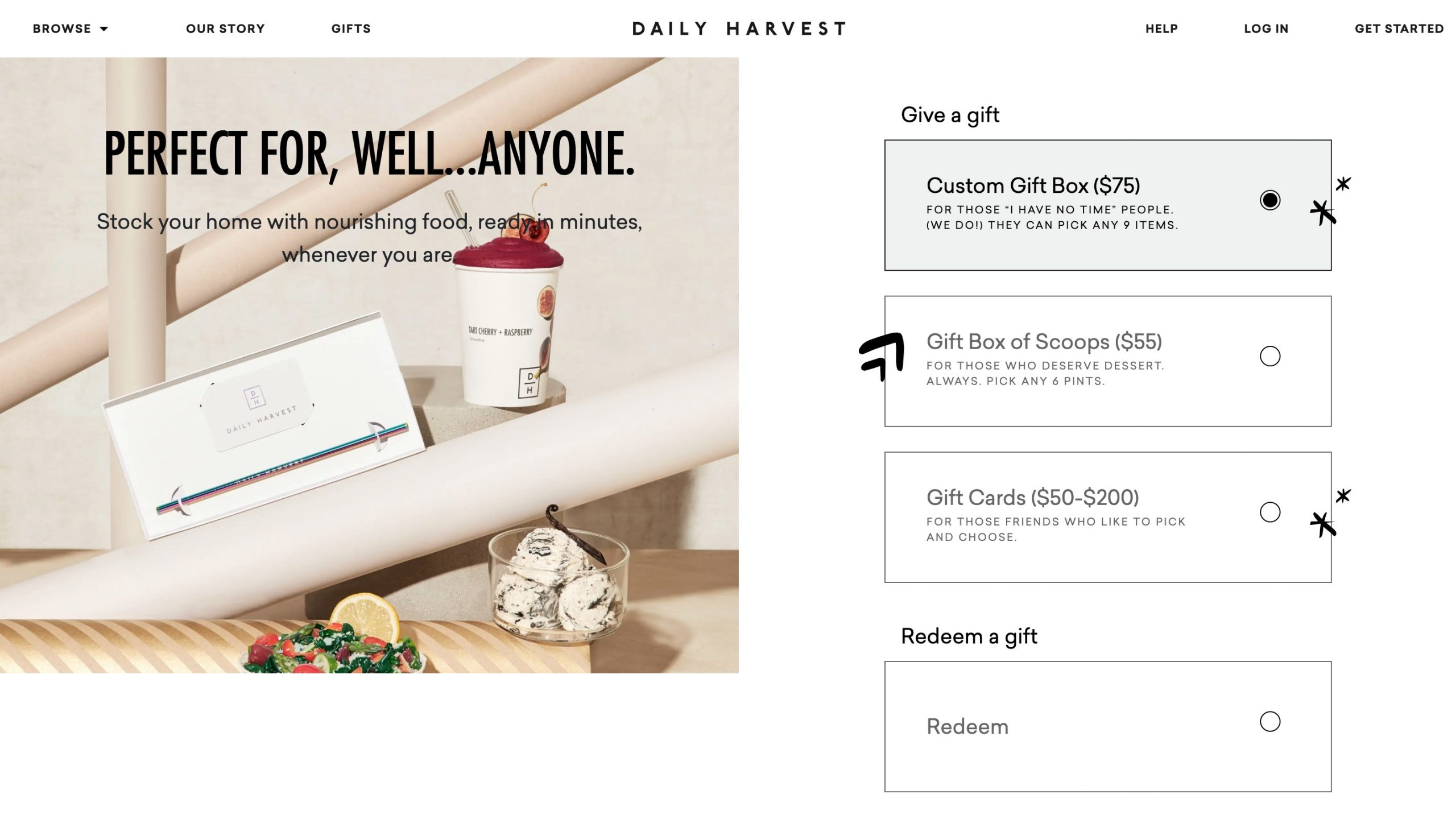 Daily Harvest gift cards