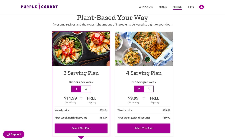 purple carrot pricing