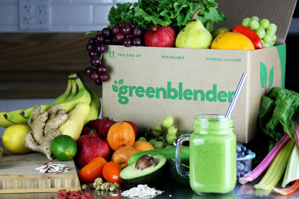 green blender box