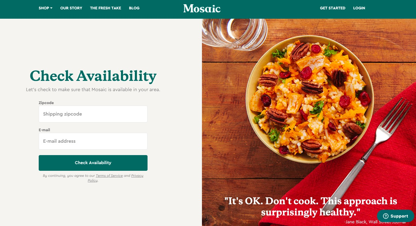 Mosaic get started