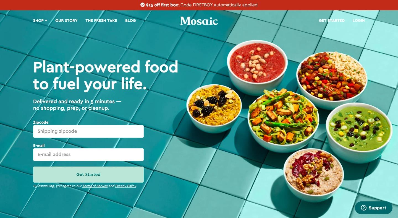 Mosaic main page