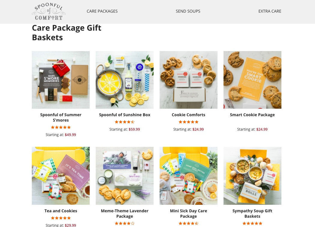 spoonful of comfort gift baskets