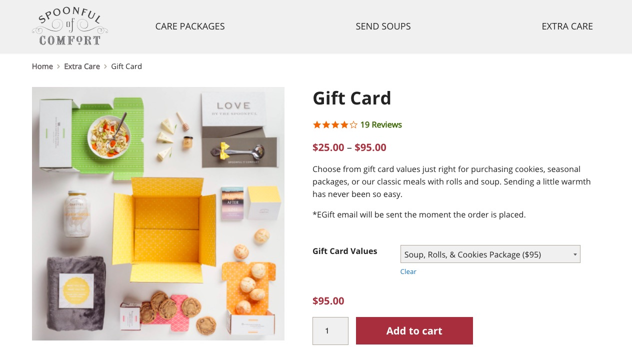 spoonful of comfort gift cards