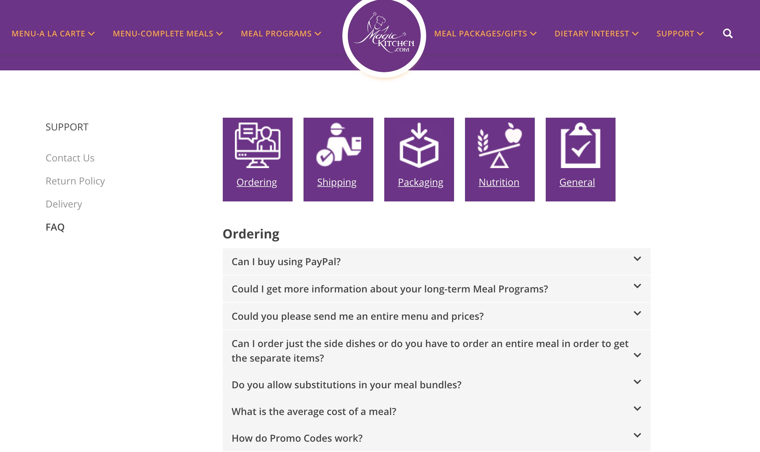 Magic Kitchen FAQ