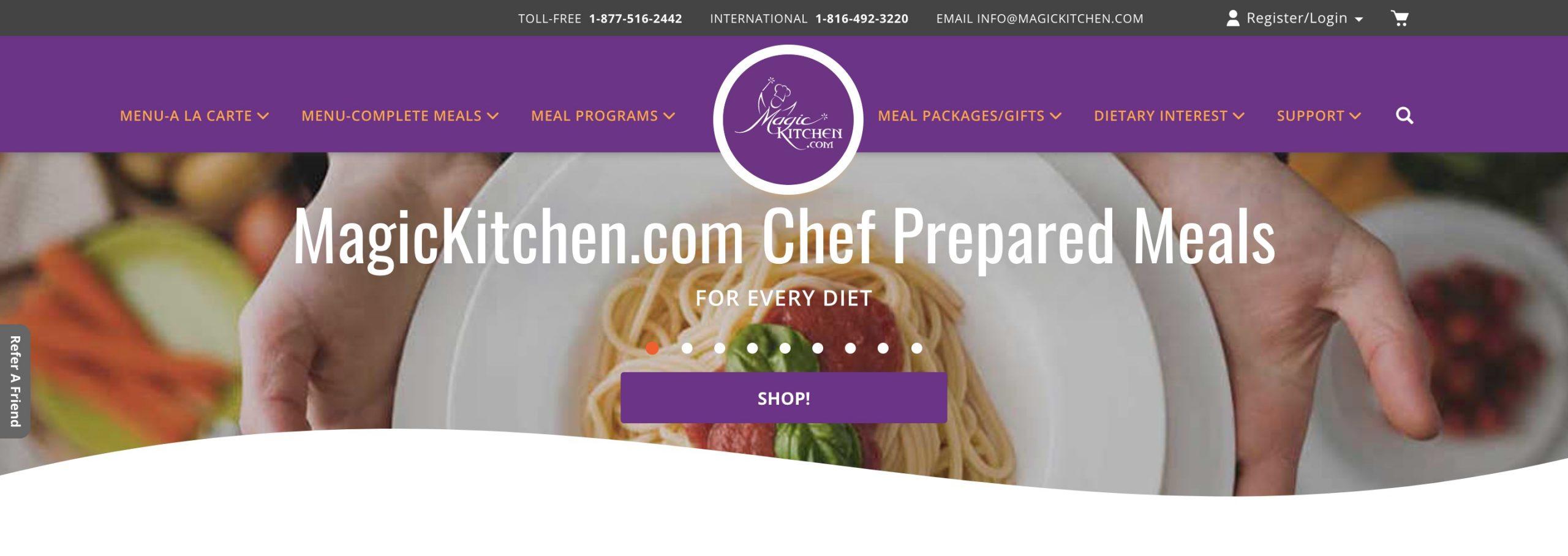 Magic Kitchen main page