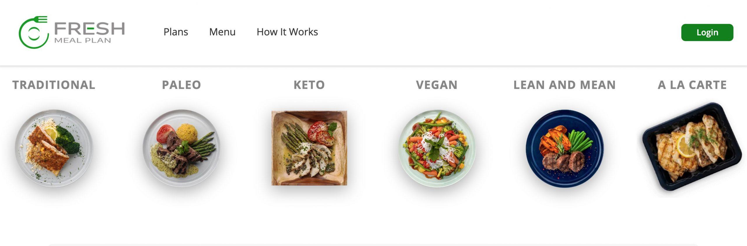 fresh meal plan menu